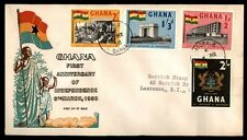 1958 Ghana independence colorful cachet first day cover registered