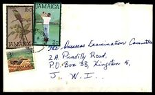 Jamaica cover with golfing issue to Kingston Jamaica colorful franking