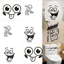 Vinyl Decoration Removable Paper Decals Toilet Wall Sticker Bathroom Decor