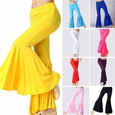 Belly Dance Pants Latin Yoga Cotton Tribal Dancing Harem Bell Trousers Costume