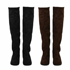 Womens Boots Ladies Sexy Knee-high Long Boots Low Heel Winter Autumn Shoes F0