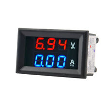 DC 100V 10A Voltmeter Ammeter Blue + Red LED Dual Digital Volt Meter Gauge DP