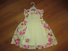 NWT Girls Gymboree Spring Celebrations Yellow Pinafore Floral Dress 12-18 18-24m