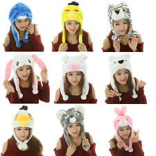 New Cute Cartoon Animal Hat Plush Beanie Fleece Winter Warm Cap Earmuff Girls