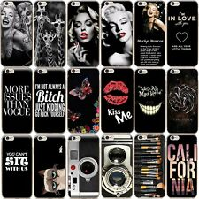 New Black Back Skin Soft TPU Silicone Phone Case Cover For iPhone 5S 6 6S 7 Plus