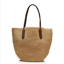 Fashion Women Summer Paper Straw Tote Bag Beach Shoulder Bag Handbag