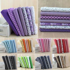 7pcs 50x50cm Square Floral Cotton Fabric Patchwork DIY Craft Sewing Quilting GN