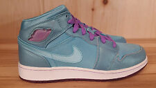 JORDAN GIRLS AIR JORDAN 1 PHAT MINERAL BLUE VIOLE KIDS GS SZ 7Y  364781-401 L