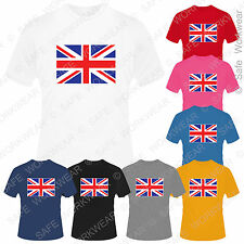Childrens Union Jack T Shirt Britain UK Flag for kids - Boys Girls Unisex Tops