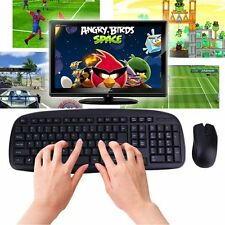 2.4GHZ Wireless Combo Set 1600DPI Computer PC Gaming Mouse + Keyboard Set lot DP