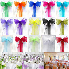 ORGANZA SASHES CHAIR COVER BOW SASH WIDER SASHES FOR A FULLER BOW WEDDING PARTY