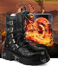 2017 NEW Rock COOL # Men BOY TOP PUNK Fashion Army Motorcycle COOL platform Boot