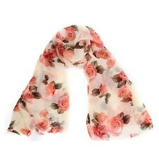 Rose Scarf Voile Long Stole Scarves Shawl Scarf Ladies