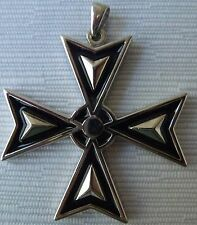 NEW Sterling silver Solid Maltese Cross pendant New Style From Malta Large size