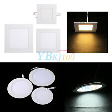 6W 9W 12W LED Recessed Ceiling Panel Down Lights Bulb Lamp Dimmable Downlight LJ