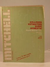 Mitchell Collision Estimating Guide Domestic--Ford Motor