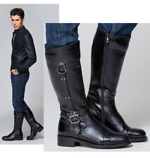 Leather TOP COOL-MEN Fashion Riding Equestrian honour guard ARMY LONG boot US 12