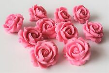 edible 10 wedding roses flowers cake toppers personalised ICING decoration