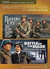NEW TCM WWII 2 DVD BATTLE CRY BATTLE OF THE BULGE FREE 1STCLS S&H