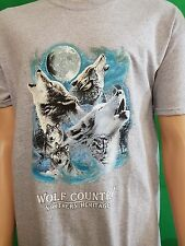 Wolf Country Northern Heritage Native American Tribal Western Biker T-Shirt