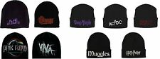 Harry Potter, Deep Purple ACDC Black Sabbath,  Bowie, Floyd, Cold Play Beanies