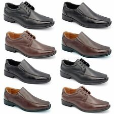 NEW MENS SMART BOYS WEDDING SHOES ITALIAN FORMAL OFFICE WORK CASUAL LEATHER SIZE