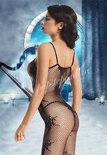 Sexy Halter Crotchless Body stocking Bodysuit Fishnet Lingerie Floral Nightwear