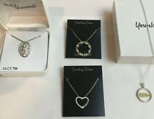 STERLING SILVER NECKLACE ASSORTMENT: MOM MOTHER WITH GIFT BOX
