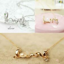 Gold /Silver Beautiful Chain Necklace LOVE Letter Pendant