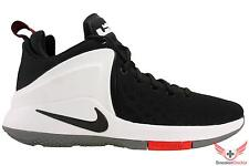 Nike Mens Lebron Zoom Witness Basketball Shoes Black/White/Red All Sizes