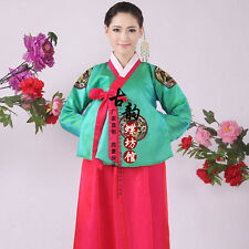 Luxury Korean Traditional Clothes Dress HANBOK WOMAN with silver hanbok.&