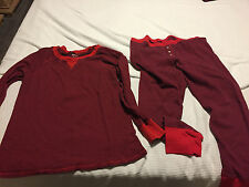 OLD NAVY THERMAL WAFFLE KNIT LOUNGE SLEEP PJ'S PANTS & SHIRT TOP SZ XXL RED NWOT