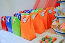 24 RAINBOW ORANGE, RED, LIME & BLUE PAPER PARTY BAGS/KIDS PARTY BAGS SUPPLIES