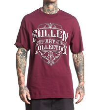 Sullen Crested Burgundy T -shirt Tee Streetwear Tattoo Art Urban