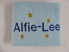Personalised Baby Blanket, Fleece Blankets, Embroidered, Baby Shower, New Baby