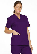 Dickies Scrubs 86706 V Neck Scrub Top Dickies EDS Signature Eggplant