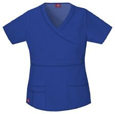 Dickies Scrubs 817355 V Neck Scrub Top Dickies GenFlex Jr Fit Galaxy Blue