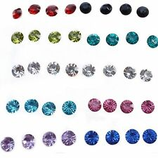Girls Rhinestone Earrings Clear/Multicolor Crystal Earrings Jewelry Ear Studs