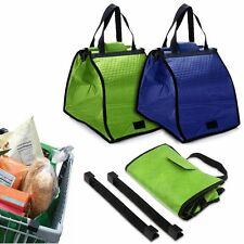 New Shopping Insulated Grab Bag Hot or Cold Reusable Grocery Bag Clip-To-Cart