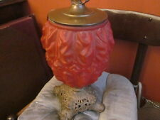RECONVERTED ANTIQUE *RED* LAMP CONSOLIDATED LAMP & GLASS Co  KEROSENE/OIL 1890'S