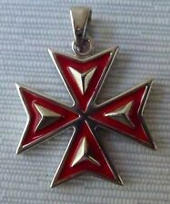 Sterling silver Solid Maltese Cross pendant New Style From Malta meduim size