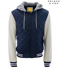 AERO Aeropostale Mens Prince & Fox Quilted Varisty Jacket Navy Size S or M NEW!