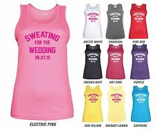 SWEATING FOR THE WEDDING Workout Vest - JC015 - Personalised Date Gym Bride