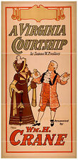 Photo Printed Old Poster: 1800s Theatre Flyer Wm H Crane A Virginia Courtship 01