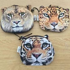 Gift Makeup Pouch Cute Wallet Coin Purse Bag Zipper Lion Face