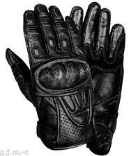 Xelement 298 Vented Leather Textile Black Carbon Fiber Armor Motorcycle Gloves