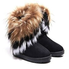 Women's Spring Fall Winter Snow Boots Leatherette Office & Career Casual Flat
