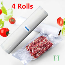 4 ROLLS 28CM 24M TEXTURED VACUUM VAC SEALER SOUS VIDE FOOD SAVER BAGS HEALTHY