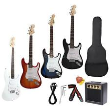 High Quality ST Electric Guitar+Gig Bag Pick Strap+3 Watt Amp+Free Ship US Gift
