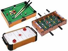 "20"" Mini Table Top Portable Football,Hockey,Pool Game Set Kids Family Fun Gift"
